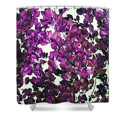 Shower Curtain featuring the photograph The Fall - Intense Fuchsia by Rebecca Harman