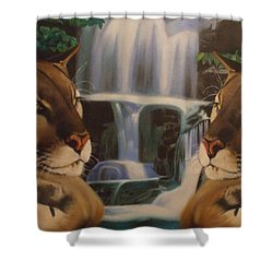 The Fall Of A Reflection  Shower Curtain by Jamie Preston