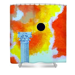 The Fall Of Rome Shower Curtain by Thomas Gronowski