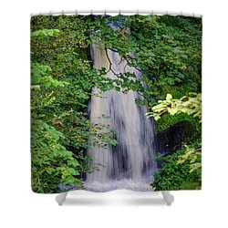 Shower Curtain featuring the photograph The Falls At Patie's Mill by RKAB Works