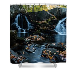 The Falls Of Black Creek In Autumn IIi Shower Curtain