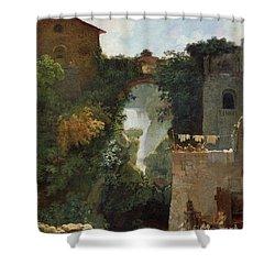 The Falls Of Tivoli Shower Curtain by Jean Honore Fragonard