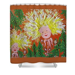 Family 2 Shower Curtain by Rita Fetisov