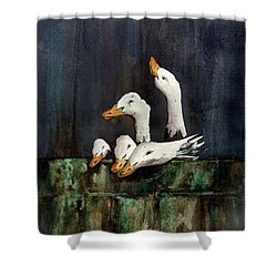 The Family Portrait Shower Curtain