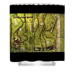 The Family Swing Set Shower Curtain