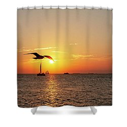 The Famous Key West Sunset  Shower Curtain