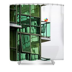 Shower Curtain featuring the photograph The Windmill by Chris Dutton