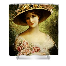 The Fancy Bonnet Shower Curtain by Emile Vernon
