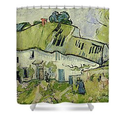 The Farm In Summer Shower Curtain by Vincent van Gogh