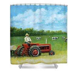 The Farmer Shower Curtain