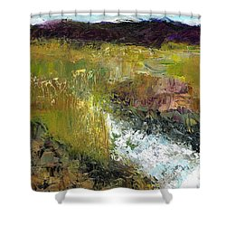 Shower Curtain featuring the painting The Farmers Ditch Fall by Frances Marino