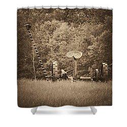 A Farmer's Field Shower Curtain