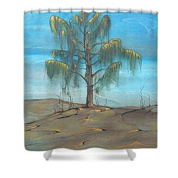The Feather Tree Shower Curtain by Pat Purdy