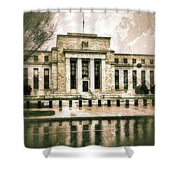 The Fed Shower Curtain by Jim Moore