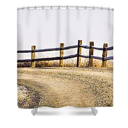 The Fence Shower Curtain