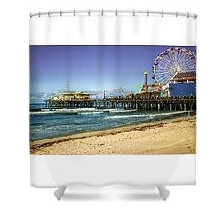 The Ferris Wheel - Santa Monica Pier Shower Curtain