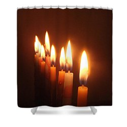 The Festival Of Lights Shower Curtain by Annemeet Hasidi- van der Leij