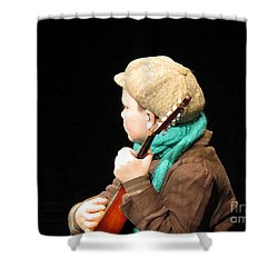 The Fiddler Shower Curtain