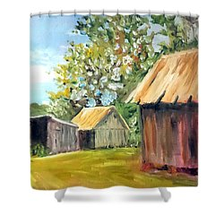 The Field's Farm Shower Curtain by Jim Phillips