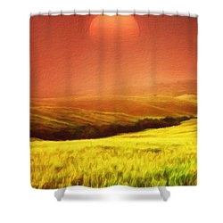 The Fields Shower Curtain