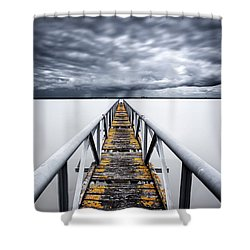The Final Cut Shower Curtain by Jorge Maia