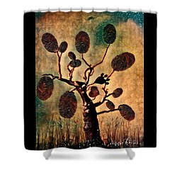The Fingerprints Of Time Shower Curtain