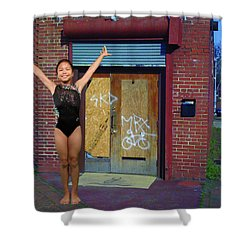 Shower Curtain featuring the photograph The Finish by Robert Hebert