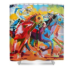 The Finishing Post- Large Work Shower Curtain