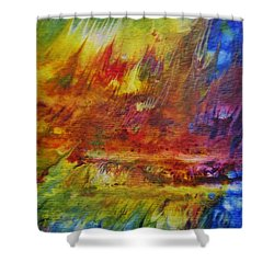 The Fire Of Transformation Shower Curtain