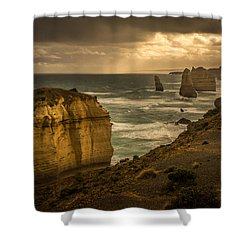 The Fire Sky Shower Curtain by Andrew Matwijec