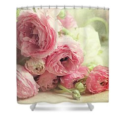 The First Bouquet Shower Curtain by Sylvia Cook