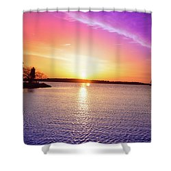 The First Day Of Spring Shower Curtain by Bill Cannon
