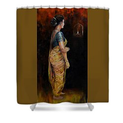 The First Diwali Shower Curtain