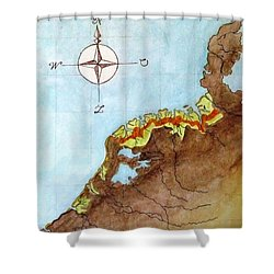 The First Frisians Shower Curtain by Annemeet Hasidi- van der Leij