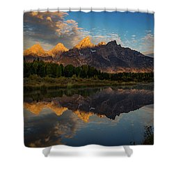 The First Light Shower Curtain by Edgars Erglis