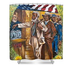 The First Vote - 1867 Shower Curtain