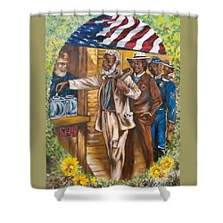 Historical  Artwork     First Vote - 1867 Shower Curtain