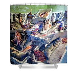 The Fish Market Shower Curtain