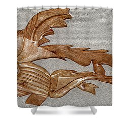 The Fish Skeleton Shower Curtain