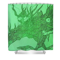 The Fish Tank Shower Curtain