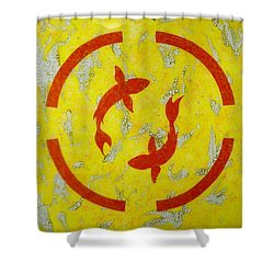 The Fishes Shower Curtain