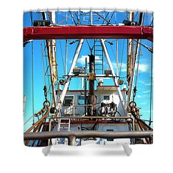 Shower Curtain featuring the photograph The Fishing Boat by John Rizzuto