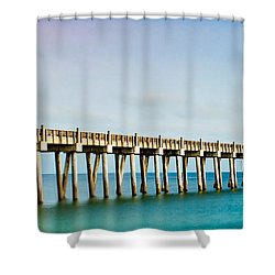 The Fishing Pier Shower Curtain