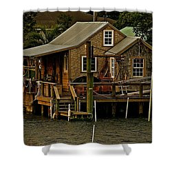 The Fishing Shack Shower Curtain