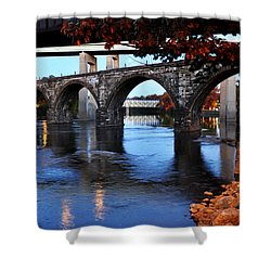 The Five Bridges - East Falls - Philadelphia Shower Curtain by Bill Cannon