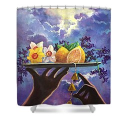 The Five Senses Shower Curtain by Randy Burns