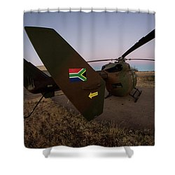 Shower Curtain featuring the photograph The Flag by Paul Job
