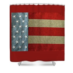 Shower Curtain featuring the photograph The Flag by Tom Prendergast