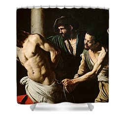 The Flagellation Of Christ Shower Curtain by Caravaggio
