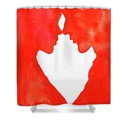 The Flame Of Love Shower Curtain